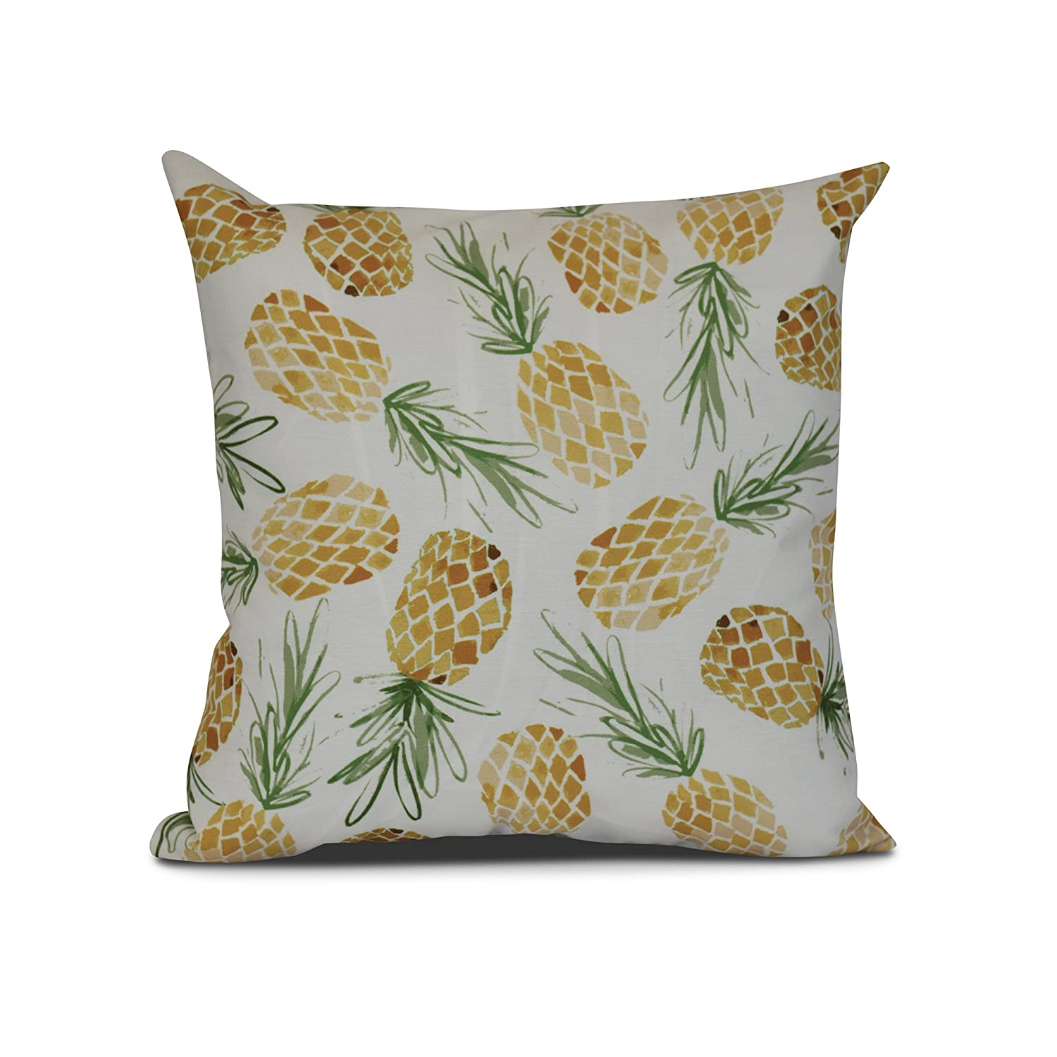E byデザインTropical Resort Tossed Pineapples装飾枕 16L x 16W in. グリーン PG803YE6-16 B01MU83B9A グリーン 16L x 16W in.