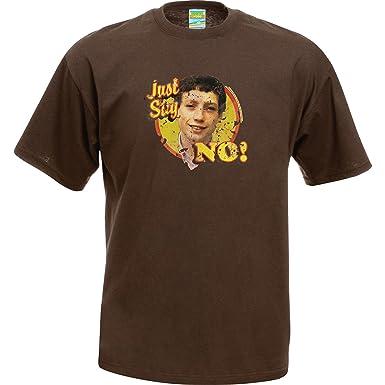 310cfdc0b03d3c Grange Hill T-Shirt Zammo Just Say No! tee shirt apparel clothing kids tv  retro gift Brown
