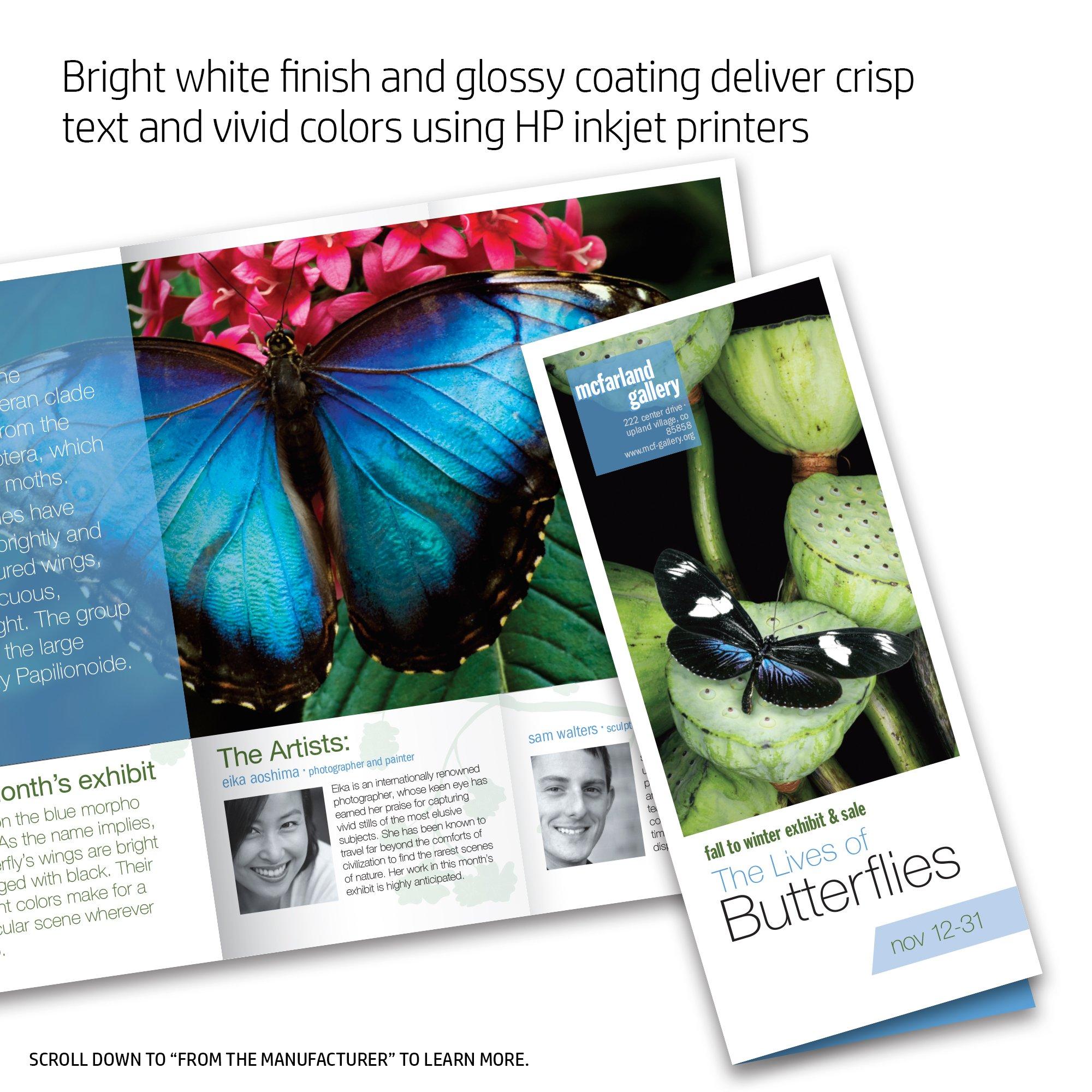 HP Brochure Paper for Inkjet Printer, Glossy, 11x17, 150