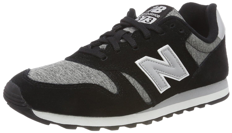 New Balance 373, Zapatillas Hombre 38.5 EU|Negro (Black/Silver Mink/White Kjr)