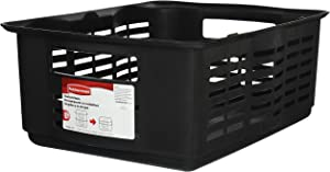 Rubbermaid Large Stackable Storage Basket ‑ Black