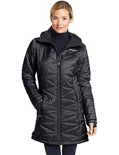 Columbia hexbreaker long down jacket black