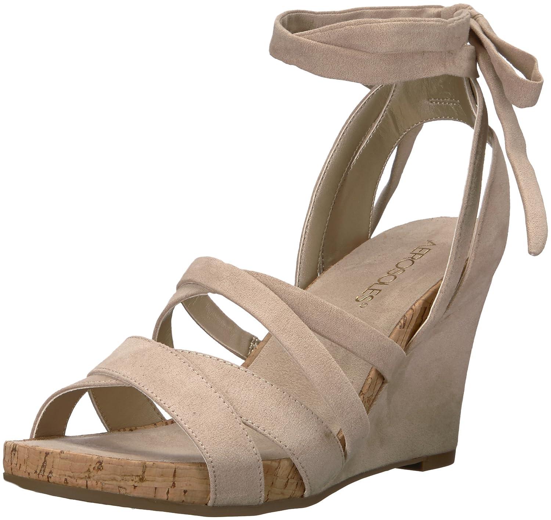 Aerosoles Women's Lilac Plush Wedge Sandal B076BP72QQ 8 B(M) US|Bone Fabric