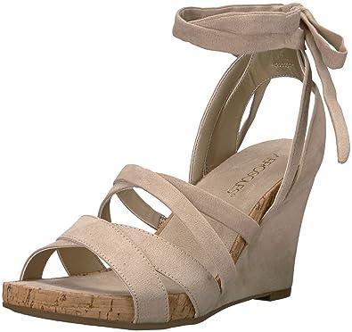 6f858661ad31 Amazon.com  Aerosoles Women s Lilac Plush Wedge Sandal  Shoes
