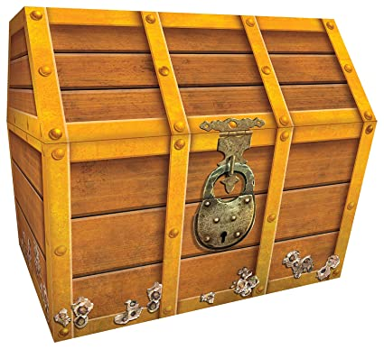 image relating to Printable Treasure Chests named Trainer Generated Materials TCR5048 Treasure Upper body, 9-1/2 x 8 x 8-1/2 Inches