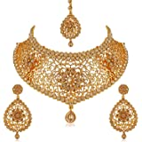 Apara Gold-Plated Necklace Set for Women