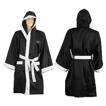 Playwell - Bata de boxeo (seda), color negro Talla:xx-large: Amazon.es: Deportes y aire libre