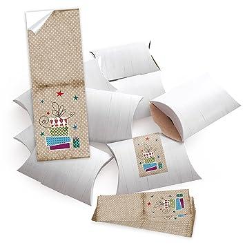 10 Kleine Geschenkschachteln Geschenk Boxen Kartons Weiß 14