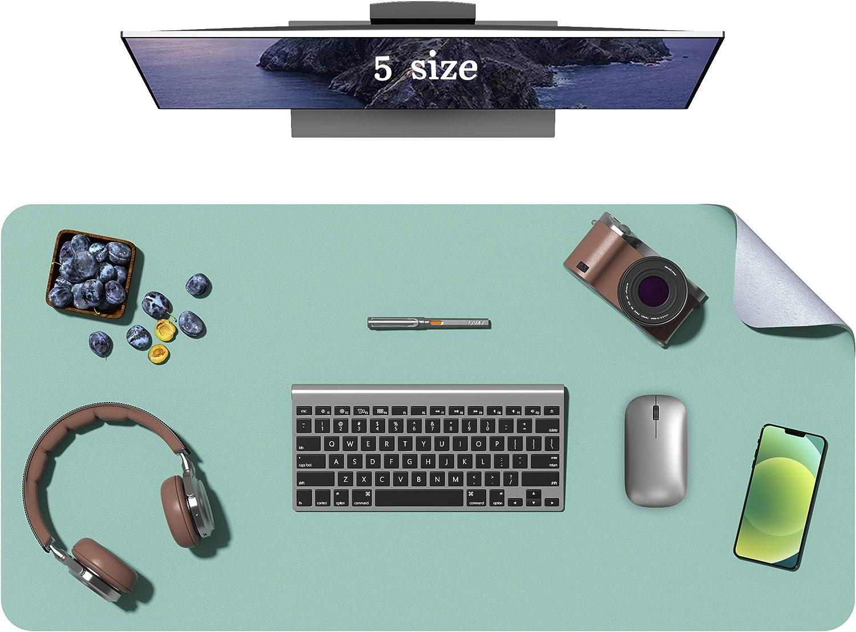 Oterri Anti-Slip Desk Pad, Waterproof Oil Proof PVC Leather Desk Mat, Ultra Thin Desk Blotter,Mouse Pad Laptop Desk Writing Mat for Office Work/Home/Decor (Green, 23.6''x13.7'')