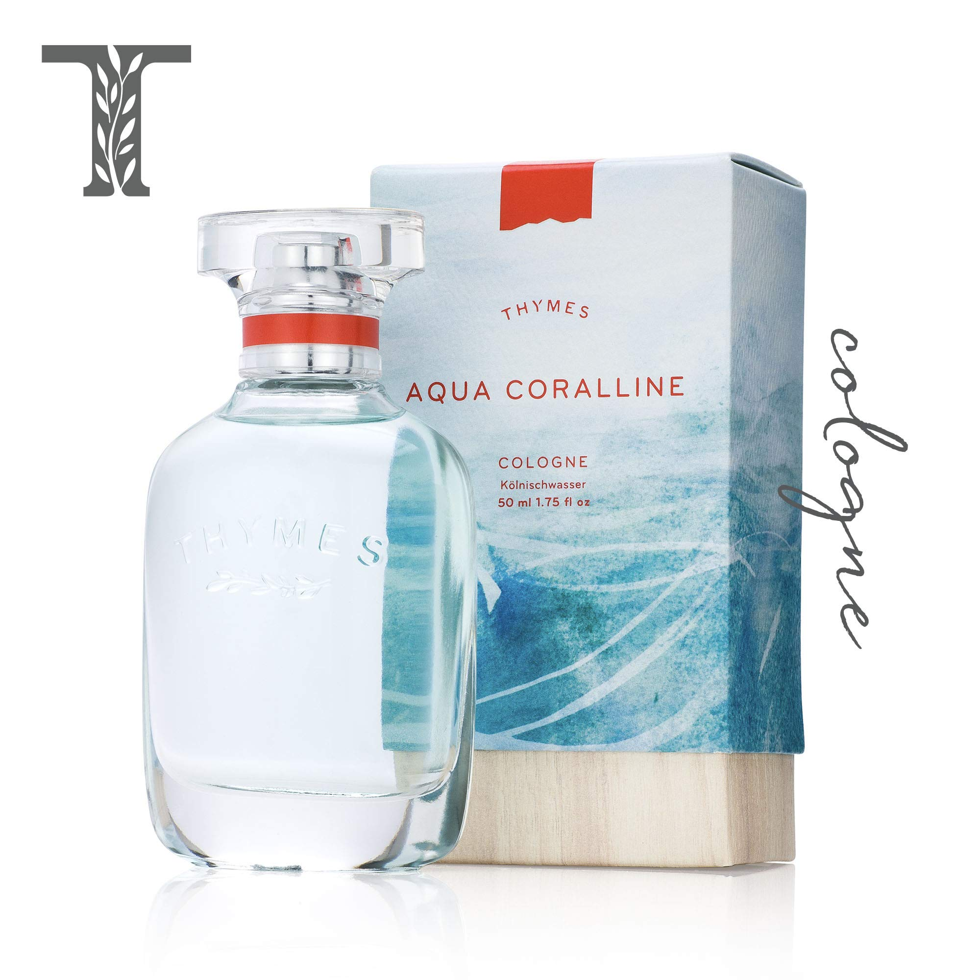 Thymes - Aqua Coralline Cologne - Refreshing Beach Fragrance for Men & Women - 1.75 oz by Thymes (Image #1)