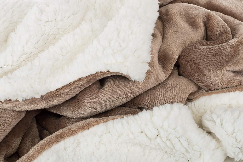 100 x 150 cm Brandsseller bicolore ideale per il tuo bambino coperta in flanella con retro in tessuto Sherpa