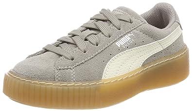 e09960140de3 Puma Unisex-Kinder Suede Platform SNK PS Sneaker Grau (Rock Ridge-Whisper  White