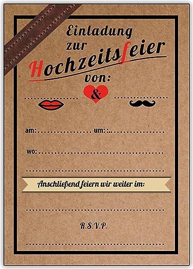 Einladungskarten Hochzeit Vintage Ohne Text Unbedruckt Leer Blanko 60  Stück: Amazon.de: Bürobedarf U0026 Schreibwaren