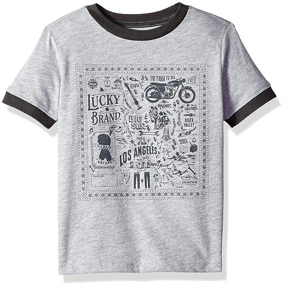 Lucky Brand Toddler Boys Short Sleeve Graphic Tee Shirt
