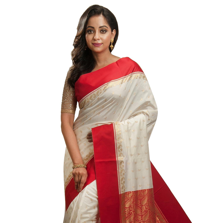 Women's Kanchipuram Art Silk Saree With Running Blouse Piece