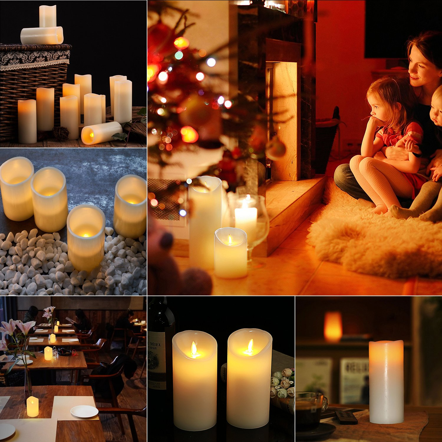 Ideal Gift For Mothers Day Glckluz Christmas Gifs Safe Flameless Flickering Candle Flamewax Led Candleled Electronic Circuit Electric Votive Candles Novelty