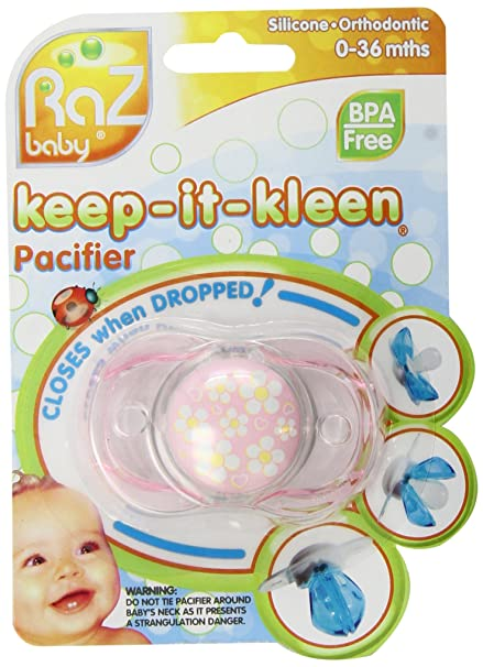 RaZbaby Keep-it-Kleen Pacifier - Percy Puppy