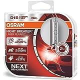 OSRAM XENARC NIGHT BREAKER LASER D1S, 200% more brightness, HID xenon bulb, discharge lamp, 66140XNL-HCB, duo box (2…
