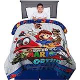 "Kitchen Designers Franco Kids Bedding Soft Reversible Comforter, Twin/Full Size 72"" x 86"", Super Mario"