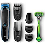 Braun Multi Grooming Kit MGK3040 7-in-1 Hair / Beard Trimmer for Men + Gillette Body Razor