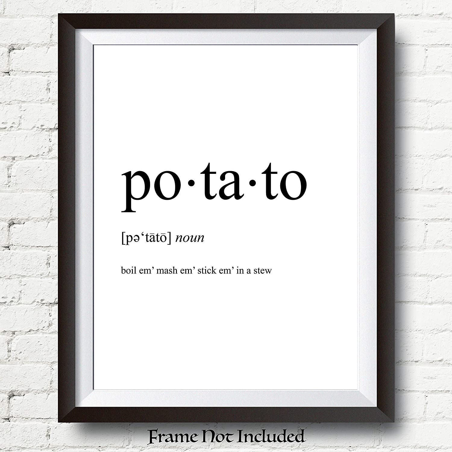 Amazon Com Lord Of The Rings Poster Sam Gamgee Potato Definition Poster Boil Em Mash Em Taters 11x14 Unframed Print Wallworthyprints Great Gift For Lord Of The Rings