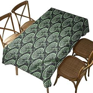 Rectangular Polyester Tablecloth,Nature,Feng Shui Zen Style Autumn,Indoor Outdoor Spillproof Tablecloth Table Cover,for Spring Summer Patio Garden Tabletop Decor Oblong 52 x 70 Inch