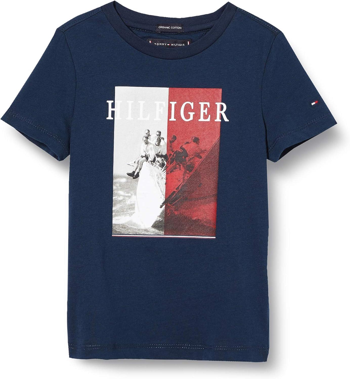 Tommy Hilfiger Photoprint tee S/S Camiseta para Niños: Amazon.es: Ropa y accesorios