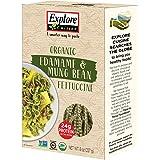 Explore Cuisine Organic Edamame & Mung Bean Fettuccine (6 Pack) - 8 oz - High Protein, Gluten Free Pasta - USDA Certified Organic, Vegan, Kosher, Non GMO - 24 Total Servings