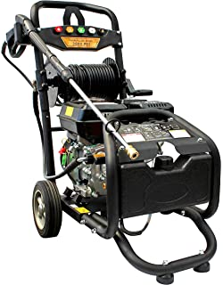 Gasolina limpiador de alta presión con manguera carga | maX. 220 bar – 3200 PSI | 7 PS Motor con 210 ccm | Lavado…