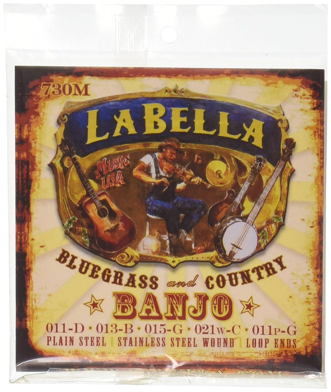 LaBella 730M Stainless Steel Banjo Strings, Medium
