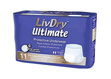 LivDry | Ultimate Absorbency | Protective Underwear (XXL, 44 Count)