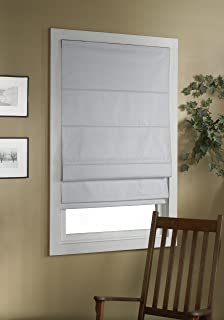 Green Mountain Vista Thermal Blackout Cordless Roman Shade, 30 By 63 Inch,  White
