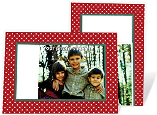 product image for Christmas Dots - 4x6 Photo Insert Note Cards - 24 Pack by Plymouth Cards