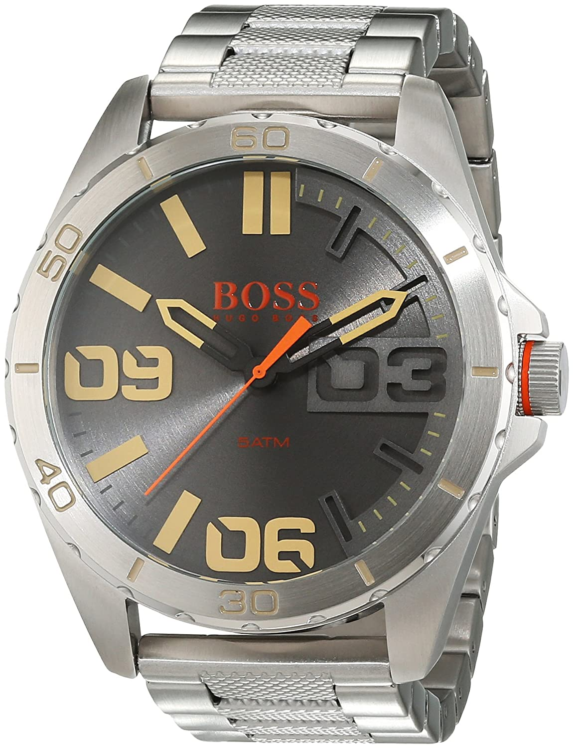 BOSS Orange Herren-Armbanduhr Analog Quarz Edelstahl 1513317
