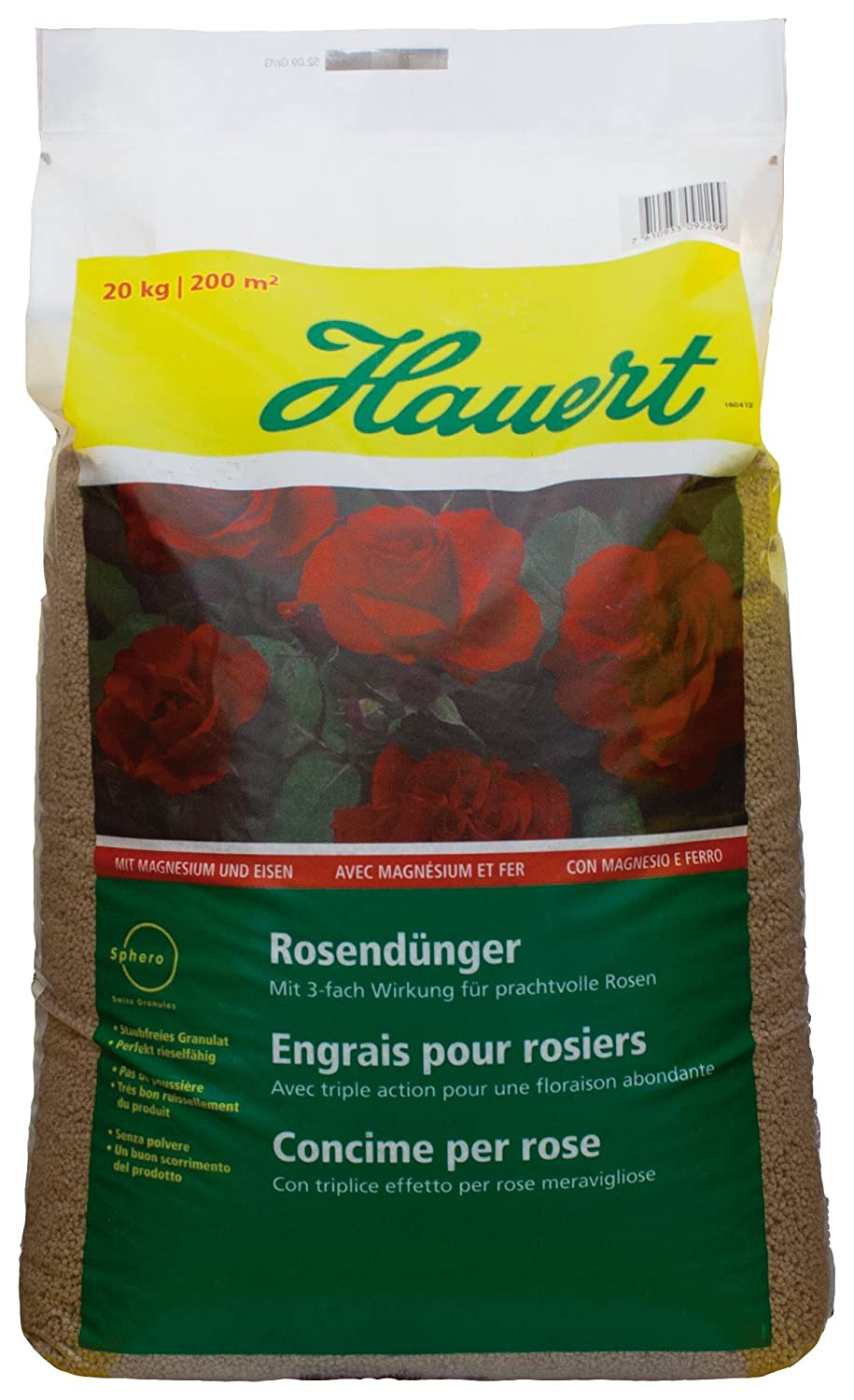 Hauert HBG fertiliser 107320 Rose fertiliser 20 kg Sphero Granulate Hauert HBG Dünger AG