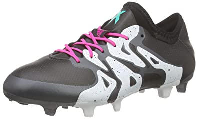 adidas X 15.1 FG/AG, Chaussures de Football Homme, Multicolore (Core Black/Shock Mint/FTWR White), 40 EU