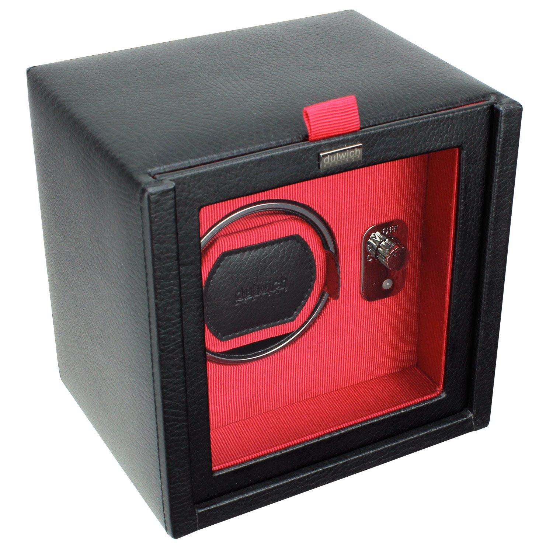 Dulwich Designs herren accessoire schwarz & rot einzeln uhrenbeweger rotator