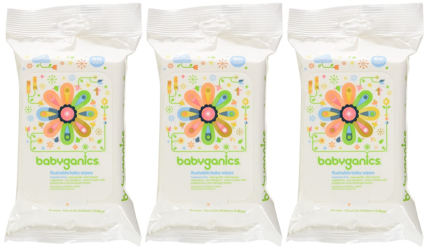 Babyganics Flushable Wipes: The Best biodegradable Baby Wipes