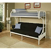 Deals on Acme Furniture 02091W-W Eclipse Futon Bunk Bed