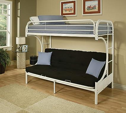 Amazon Com Acme Furniture 02091w W Eclipse Futon Bunk Bed Twin