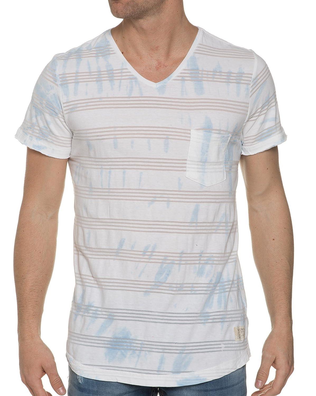 Blend - White V-Neck Tee Shirt
