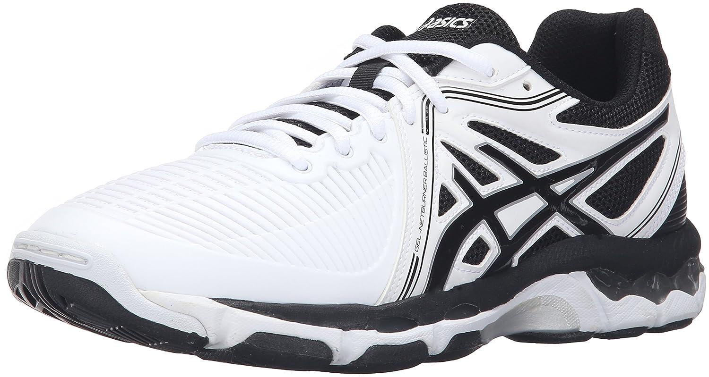 ASICS Women's Gel-Netburner Ballistic Volleyball Shoe B017X2C4UQ 11.5 B(M) US White/Black/Silver