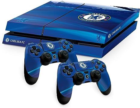 Chelsea FC Playstation 4 PS4 azul controlador de almohadilla y la consola de la piel Stamford Bridge imagen Estadio escudo del club oficial de regalos: Amazon.es: Videojuegos