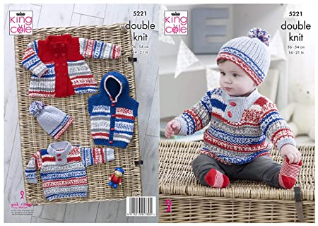 sizes 14-22 KINGCOLE 5159 Baby DK Knitting Pattern Not the finished items