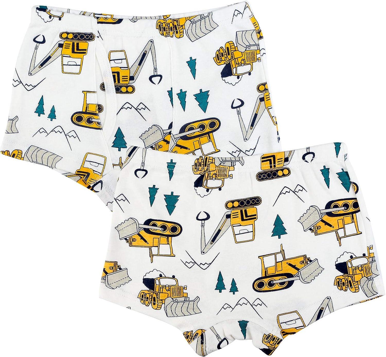 in Cotone Confezione da 6 per Bambini dai 2 ai 10 Anni con Dinosauro e Camion dei Dinosauri Kereda Biancheria Intima per Ragazzi