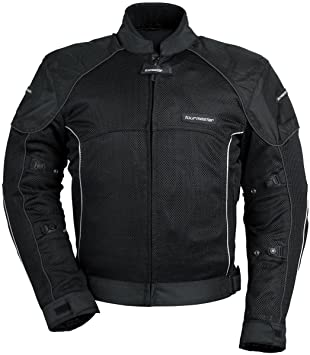 Tour Master Intake Air Series 3 Men's Textile Street Racing Motorcycle  Jacket - Black/Black
