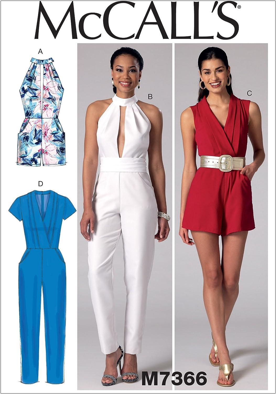 17 x 0.5 x 0.07 cm McCalls Patterns Miss Petite Jumpsuits Sewing Pattern Tissue Multi-Colour