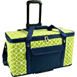 Picnic at Ascot Ultimate Travel  Cooler with Wheels- 36 Quart - Combines Best Qualities of Hard & Soft Collapsible Coolers - Trellis Green