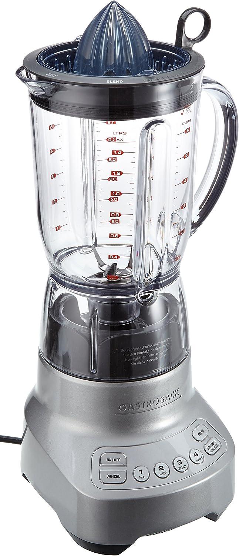 Gastroback 41004 Batidora de vaso 1.5L 1000W Acero inoxidable - Licuadora (1,5 L, 28000 RPM, Batidora de vaso, Acero inoxidable, Tritan, Acero inoxidable)