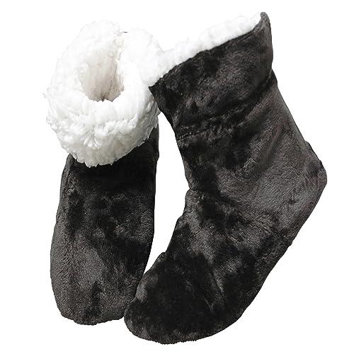 FERETI (36-38) Botas De Casa Peluche Marrón Botines Felpa Borreguillo Pantuflas Forro Pelo Lavable Tobillo Acolchado Nórdico Altas: Amazon.es: Zapatos y ...